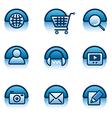 website icon set vector image