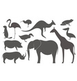 Wild Animals Africa Silhouette vector image