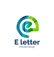 letter concept logo template abstract vector image