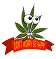 A cartoon marijuana smiling and happy vector image