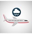 plane travel weather forecast rain icon vector image