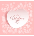 loving heart Background template greeting card vector image vector image