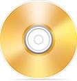 Golden compact disc vector image