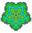 indian ornament kaleidoscopic pattern mandala vector image