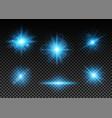 blue lights set vector image