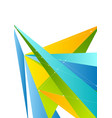 Colorful abstract tech polygonal corporate vector image