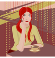 Girl with a coffee cup vector image