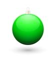 Gradient christmas green ball vector image