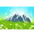 Green Landscape with Mountains vector image