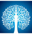 hand tree stock in blue background vector image