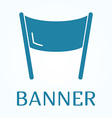 Icon or sign of banner in flat style vector image