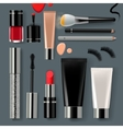 Makeup set collection vector image