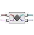 recuperator scheme energy-efficient ventilation vector image