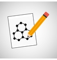 science laboratory molecule structure drawing vector image