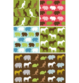 Seamless natural animal pattern vector image