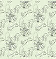 seamless pattern with french bulldog vector image
