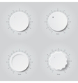 Set of volume buttons vector image
