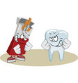 tooth boxing with pack of cigarettes vector image
