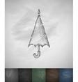 umbrella icon Hand drawn vector image