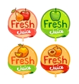 fresh juice emblem set 2 vector image vector image