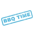 BBQ Time Rubber Stamp vector image