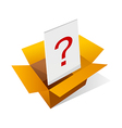 icon box and question mark vector image vector image