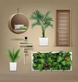 eco-minimalist furniture vector image vector image