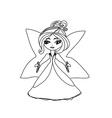 beautiful little fairy vector image