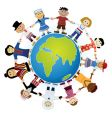 childrens of the world vector image vector image