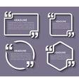 Quotes in quotation marks in on stickers vector image