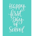 Happy First Day of School typography quote vector image