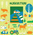 Agriclulture icons and pictures set - hand drawn vector image