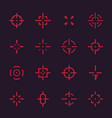 crosshairs set elements for interfaces vector image