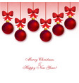 garland with red christmas balls vector image