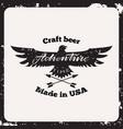 label craft beer vector image