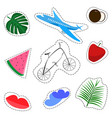 set of cartoon style patches stickers vector image