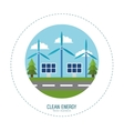 solar energy panel wind turbines vector image