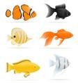 aquarium fish 07 vector image vector image