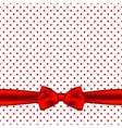 Holiday background card with bow vector image