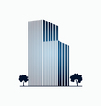 Blue buildings and trees vector image vector image
