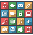 set of web icons in flat design vector image