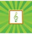 Music picture icon vector image