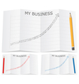 hand drawn business graph vector image
