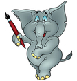 Elephant Painter vector image