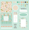 collection of design elements for invitation vector image