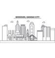 Missouri kansas city architecture line skyline vector image