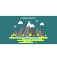 Mountain peak Summer spring landscape Nature vector image