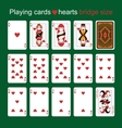 Playing cards Hearts Bridge size vector image