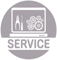SERVICE COMPUTER1 vector image