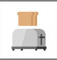 steel toaster vector image